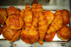 Traditional french croissant in Paris. Many Traditional french croissant in Paris Royalty Free Stock Photo