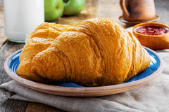 Traditional French croissants Stock Images