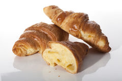 Traditional french croissants Royalty Free Stock Images