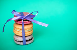 Traditional french desert macaroons Royalty Free Stock Photos