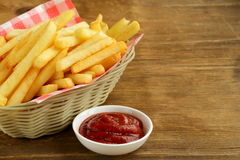 Traditional French fries Royalty Free Stock Photos