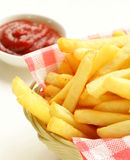 Traditional French fries Stock Photography
