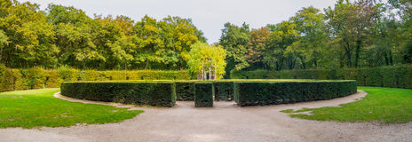 Traditional french garden labyrinth Stock Photos