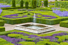 Traditional french garden. Ornamental Garden. Stock Images
