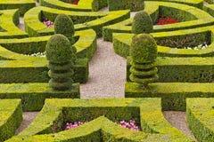 Traditional french garden. Ornamental Garden. Royalty Free Stock Photography