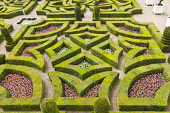 Traditional french garden. Ornamental Garden. Royalty Free Stock Photo