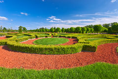 Traditional french garden. Rundale palace ,  Latvia Royalty Free Stock Images