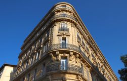 Traditional French Haussmann architecture and residential building in Marseille. Traditional French Haussmann architecture and residential building in Marseille stock images