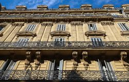 Traditional French Haussmann architecture and residential building in Marseille. Traditional French Haussmann architecture and residential building in Marseille royalty free stock photography