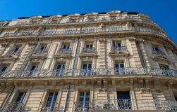 Traditional French Haussmann architecture and residential building in Marseille. Traditional French Haussmann architecture and residential building in Marseille royalty free stock photos