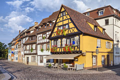 Traditional french houses in Colmar Stock Photo