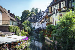 Traditional French Houses In Colmar Royalty Free Stock Photo