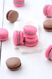 Traditional french macarons Stock Photos