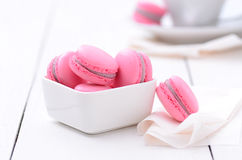 Traditional french macarons Stock Image