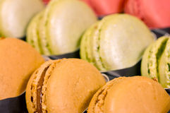 Traditional french macaroons Royalty Free Stock Image