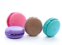 Traditional French macaroons cookies Stock Photography