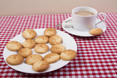 Traditional French macaroons stock image