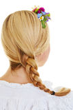 Traditional french plait Stock Images