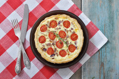 Traditional french quiche pie Royalty Free Stock Image