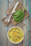 Traditional french quiche pie Stock Image