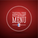 Traditional French restaurant menu Royalty Free Stock Photos