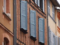 Traditional French windows Royalty Free Stock Photography