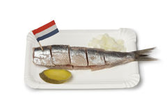 Traditional fresh herring with onions Stock Image