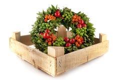 Traditional fresh holi wreath, isolated on white. Background Stock Image