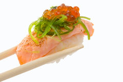 Traditional fresh japanese sushi migiri stock image