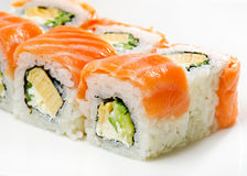 Traditional fresh japanese sushi rolls Stock Image