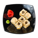 Traditional fresh japanese sushi rolls on a white Stock Images