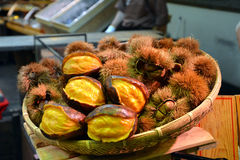 Traditional Fresh market in Kyoto Japan. Asian food. Stock Image