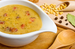 Traditional fresh pea soup Royalty Free Stock Images
