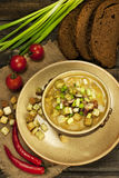 Traditional fresh pea soup in the bowl Royalty Free Stock Photos