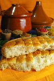 Traditional fresh turkish bread pita and collection of different Stock Images