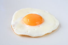 Traditional fried egg isolated Stock Images