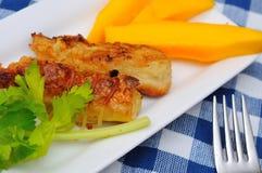 Traditional Fried mango prawn delicacy Stock Photo