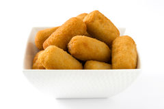 Traditional fried Spanish croquetas croquettes Royalty Free Stock Photography