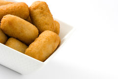 Traditional fried Spanish croquetas croquettes Stock Photography