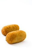 Traditional fried Spanish croquetas croquettes isolated Royalty Free Stock Photography