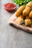Traditional fried Spanish croquetas croquettes Stock Photos
