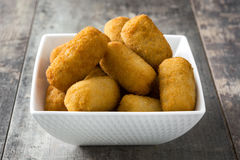 Traditional fried Spanish croquetas croquettes Royalty Free Stock Images