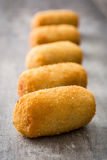 Traditional fried Spanish croquetas croquettes Stock Image