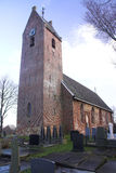 Traditional Frisian church. Little church in Jelsum, Friesland, the Netherlands stock images