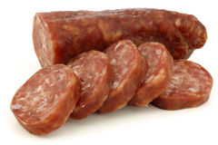 Traditional frisian dried sausage Stock Image