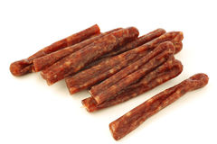 Traditional frisian dried sausage sticks Stock Photography
