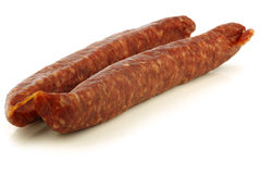 Traditional frisian dried sausages Stock Photo