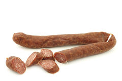Traditional frisian smoked and dried sausages Royalty Free Stock Photos