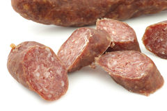 Traditional frisian smoked and dried sausages Royalty Free Stock Photo