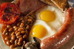 Traditional Full English Breakfast Stock Photo